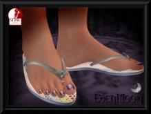 -EM- Jellybug Flipflop for Slink  thong sandal Silver