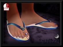 -EM- Jellybug Flipflop for Slink  thong sandal Blue