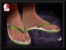 -EM- Jellybug Flipflop for Slink  thong sandal Lime green