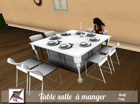 Second Life Marketplace Bs Concept Table Salle A Manger Xurina