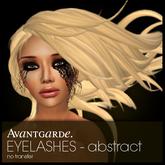Avantgarde. eyelashes - abstract
