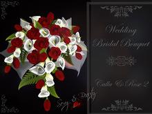 Wedding Bridal Bouquet -( big) Roses & Callas 2