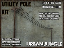 UTILITY POLE KIT - MESH - URBAN JUNGLE
