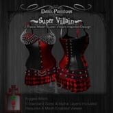 Dark Passions - Super Villain Outfit - Mesh Skirt & Corset
