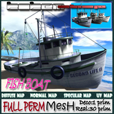 FISH BOAT  fULLPERM 30 Prim.