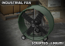 3DL - Mesh Industrial Fan (1 Prim - 100% Mesh)