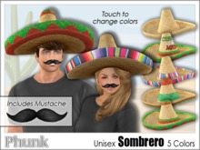 [Phunk] Mesh Sombrero Hat (5 Colors)