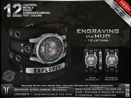 **RE** ReVoX Explorer Watch * MESH * Unisex * (*ReVoX Collection*)