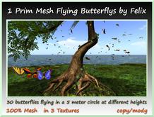 1 Prim Mesh Flying Butterflies by Felix copy-mody