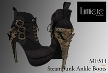 [50% OFF] RE-LAUNCH PROMO Lumiere Steampunk Ankle Boots Black Mocca
