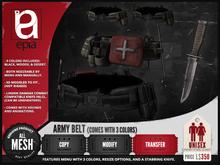 (epia) - Army Belt w/ Knife