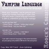 Translator 3.0 Vampire Language
