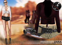 Bens Boutique - Warrior Outfit ZARA (cream bordeaux)- %100 mesh