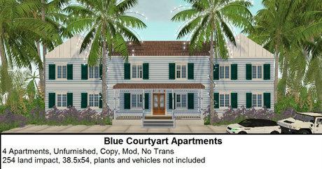 Blue Courtyard Apartments(254LI, 38.5x54)