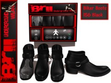 **MESH BIKER BOOTS 156 BLACK FOR MEN** Brii Underground Wear **