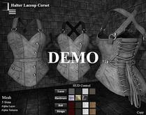 DE Designs - Halter Laceup Corset - DEMO