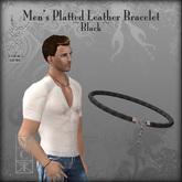 :+:SS:+: Men's Platted Leather Bracelet [Black]