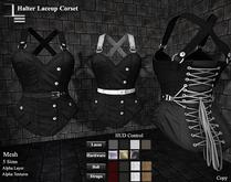 DE Designs - Halter Laceup Corset - Black