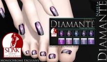 :Diamante: Blue/Purple Monochrome-Slink Enhancment Nails