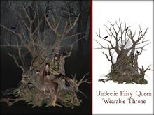 Boudoir -UnSeelie Fairy Queen Wearable Throne