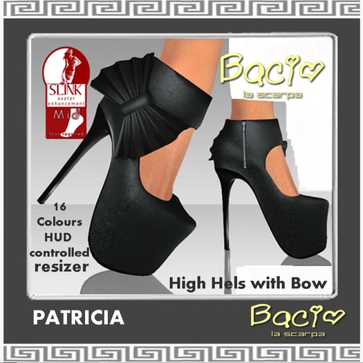 Bacio Mesh Slink PATRICIA with Bow BOX