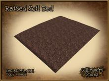 *GALLI* - MESH or SCULPT - Raised Soil Bed - Land Impact 1 each - Mod & Copy