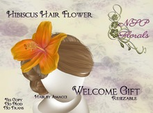 NSP Gift! Hibiscus Hair Flower (Tropical) boxed