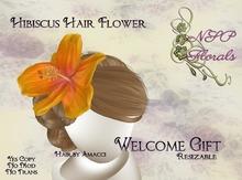 NSP Hibiscus Hair Flower Green boxed