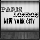 *~LT~* Paris London New York Wall Art Decal