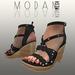 Modan Braided Wedge Sandal Black