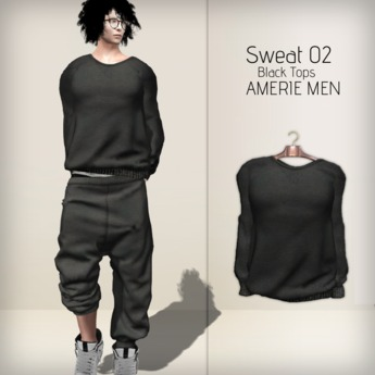 AMERIE M - Sweat02 TOP(Black)