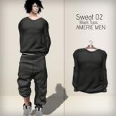 AMERIE M - Sweat02 TOP(Black)