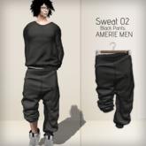 AMERIE M - Sweat02 PANTS(Black)