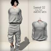AMERIE M - Sweat02 TOP(Gray)