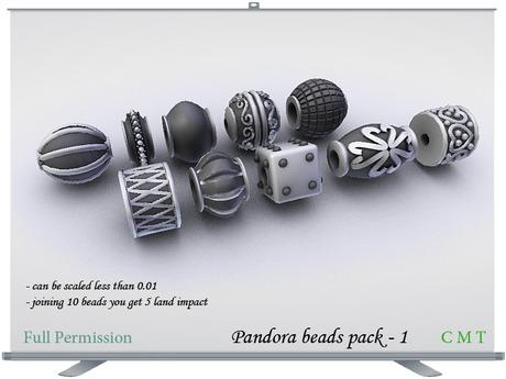 Pandora style beads pack 1 Full Permission