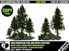 Trees -  Wild Mountain Pines Clusters - Pack of 4 Designs