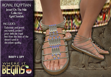 Egyptian Role-Play - Royal Egyptian Jewel On The Nile Sandals