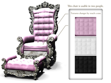 *:..Silvery K..:*Emperor's chair(Mesh)Silver Set*