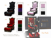 *:..Silvery K..:*Emperor's chair(Mesh)Fat Set*