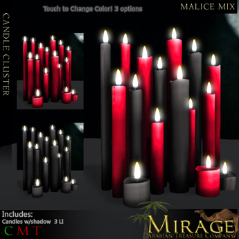 =Mirage= Candle Cluster - Malice Mix