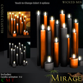 =Mirage= Candle Cluster - Wicked Mix