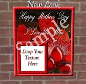 Princess Mothers Day Card and Frame in One Red