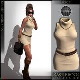 :KR: Kelsey Dress - Beige