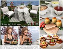 """Aphrodite """"Summer Joy"""" Brunch garden set with tea & more! (v1.1"""