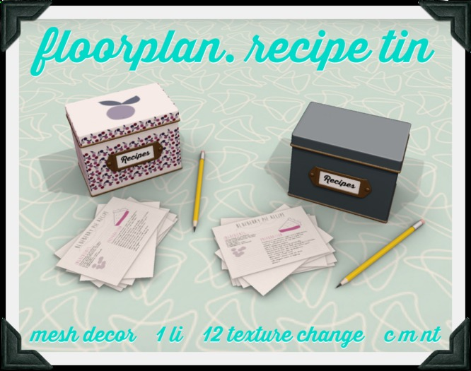 floorplan. recipe tin [boxed]