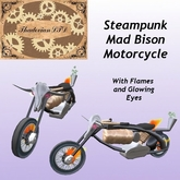 Thadovian LTD Steampunk Mad Bison Motorcycle