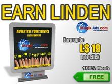 Magik Ads Adboard - Grey | Earn Lindens, paid per click!