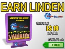 Magik Ads Adboard - Purple | Earn Lindens, paid per click!