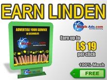 Magik Ads Adboard - Green | Earn Lindens, paid per click!
