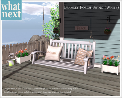 {what next) White Bramley Porch Swing